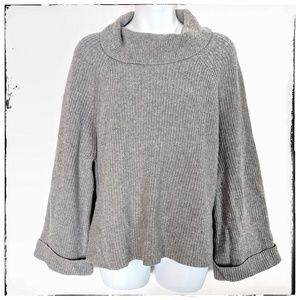 Leith Oversized Bell Sleeve Cowl Neck Sweater Sz S